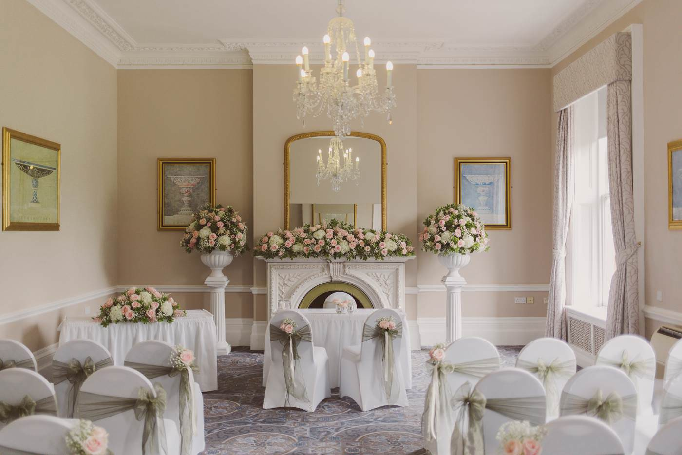 the marriage ceremony room
