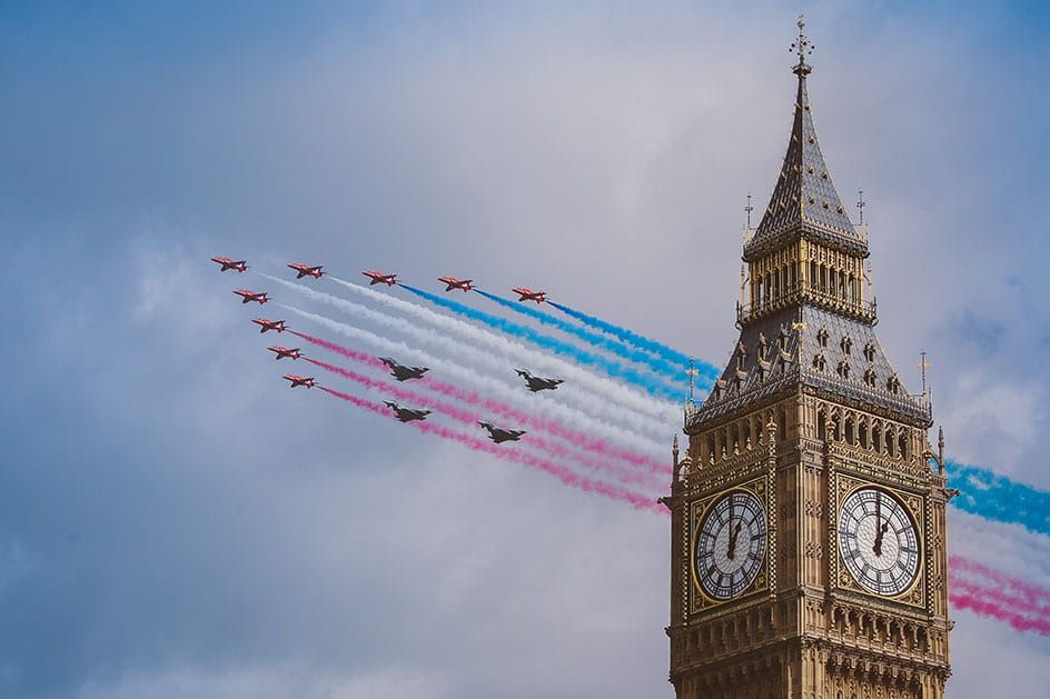 RAF flypast in London | Client: The Times